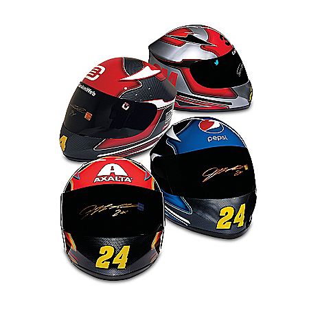 Jeff Gordon Autographed Replica NASCAR Racing Helmet