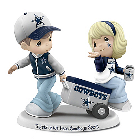 Precious Moments Together We Have Dallas Cowboys Spirit Figurine
