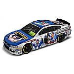 Dale Earnhardt Jr. NASCAR Winning Moments Autographed Collage 1 - 18 Scale Car Sculpture