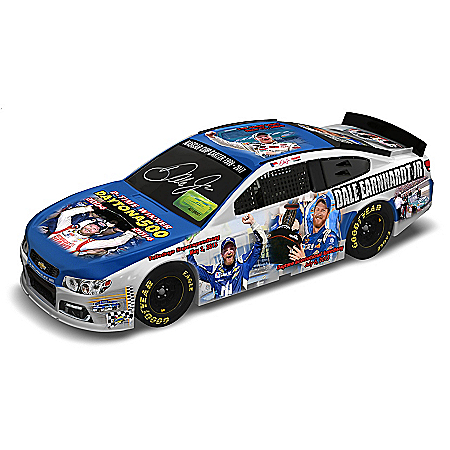 The Bradford Exchange Online - Dale Earnhardt Jr. NASCAR Winning Moments Autographed Collage 1:18 Scale Car Sculpture Photo