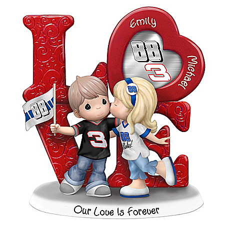 Precious Moments Our Love Is Forever Dale Earnhardt Jr. NASCAR Personalized Figurine