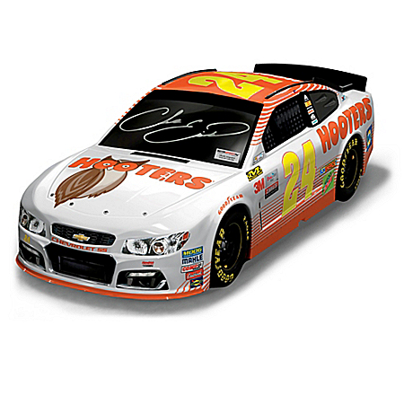 Chase Elliott Autographed 2017 NASCAR Hooters Chevrolet SS Sculpture: 1 of 150