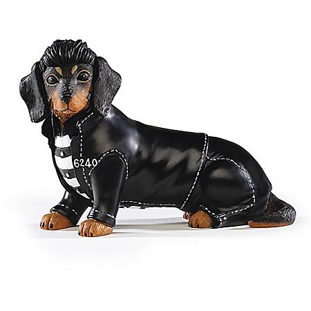 Elvis Presley Jailhouse Furr-ock Dachshund Figurine