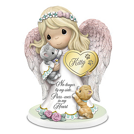 Precious Moments Purr-ever In Our Hearts Personalized Angel Figurine