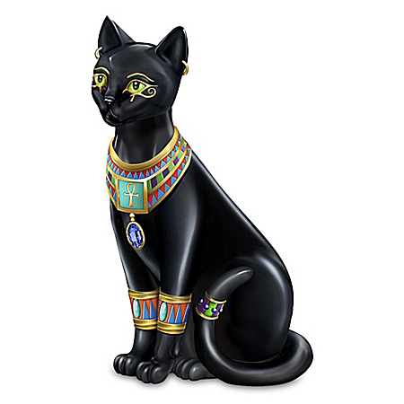 Blake Jensen Pharaoh Of The Night Handcrafted Cat Figurine