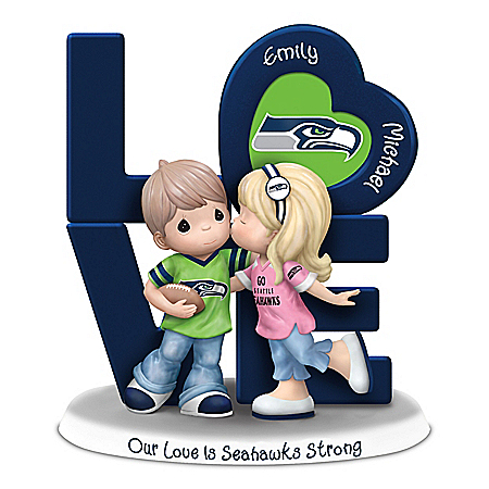 Precious Moments Our Love Is Seahawks Strong Personalized NFL Figurine