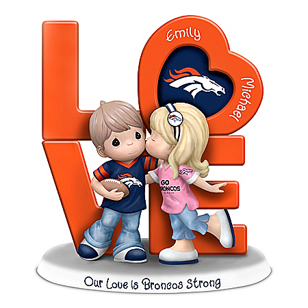 Our Love Is Broncos Strong Personalized NFL Figurine