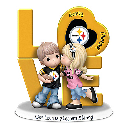 Our Love Is Steelers Strong Personalized NFL Figurine