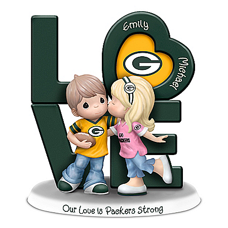 Our Love Is Packers Strong Personalized NFL Figurine