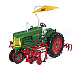 Oliver Super 88 Row Crop 2-Row Cultivator And Umbrella 1 - 16 Scale Diecast Tractor