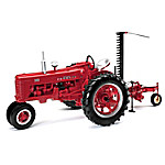 1 - 16-Scale Farmall 300 Gas Narrow Front With Sickle Mower Diecast Tractor And Farmall Ornament Set