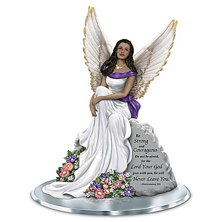 Keith Mallett Angel Of Courage Hand-Painted Figurine