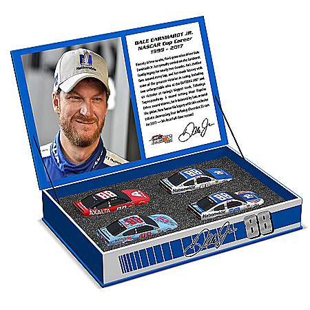 Dale Earnhardt Jr. Race To The Finish 2017 NASCAR Tribute 1:64-Scale Diecast Car Set