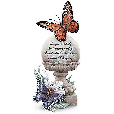 Lena Liu Always Near And Very Dear Hand-Painted Butterfly Figurine