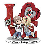 Precious Moments Our Love Is Ohio State Buckeyes Strong Personalized Figurine