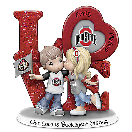 Precious Moments Our Love Is Buckeyes Strong Figurine Personalized with Names