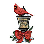 Thomas Kinkade Your Spirit Lives Forever In My Heart Sculpted Cardinal Lantern