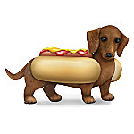 One Hot Dog Hand-Painted Dachshund Figurine