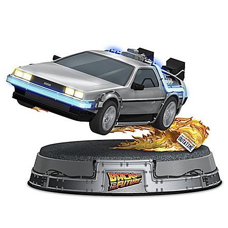 Back To The Future DeLorean Illuminated Time Machine Sculpture