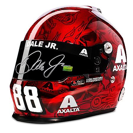 #88 Dale Earnhardt Jr. Autographed Axalta 2017 Skull Racing Helmet