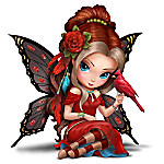Jasmine Becket-Griffith Captivating Cardinal Hand-Painted Songbird Fairy Figurine