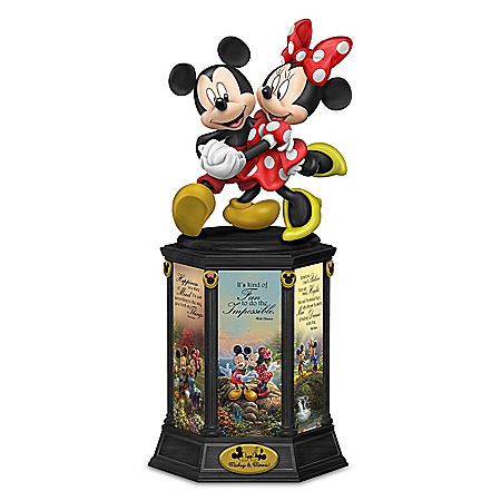 Disney Mickey Mouse & Minnie Mouse: Dreams Are Magical By Thomas Kinkade Studios Sculpture