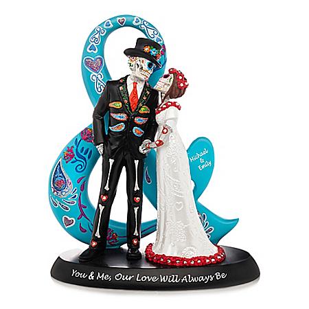 Romantic Sugar Skull Bride and Groom Personalized Figurine by Blake Jensen