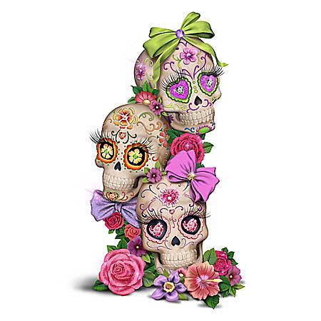 Margaret Le Van Glow-In-The-Dark Sugar Skull Sculpture