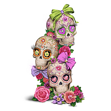 Margaret Le Van Glow-In-The-Dark Sugar Skull Sculpture