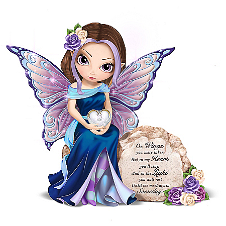 Jasmine Becket-Griffith Message To Heaven Hand-Painted Fairy Figurine