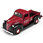 1 - 24-Scale 1941 IH Farmall Plymouth Diecast Truck With Commemorative Belt Buckle