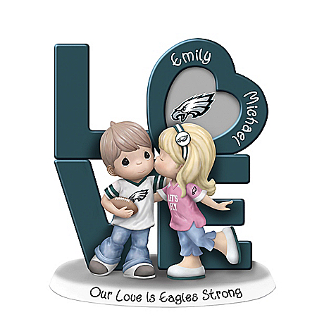 Precious Moments Our Love Is Eagles Strong Figurine with 2 Names