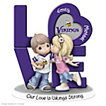 Precious Moments Our Love Is Minnesota Vikings Strong NFL Personalized Figurine