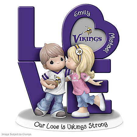Precious Moments Our Love Is Minnesota Vikings Strong Figurine with 2 Names