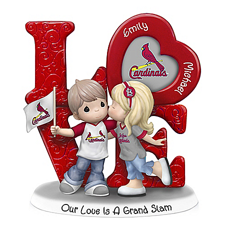Precious Moments St. Louis Cardinals Personalized LOVE Figurine with 2 Names