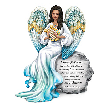 Martin Luther King Jr.-Inspired Angel Figurine With Crystals