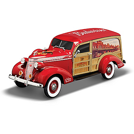 1:18-Scale King Of Cool Budweiser Woody Wagon Sculpture