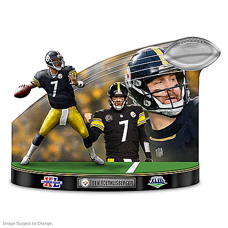 Caught In The Action Pittsburgh Steelers Ben Roethlisberger NFL Sculpture