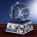 New York Yankees Giancarlo Stanton Laser-Etched Glass MLB Baseball Sculpture