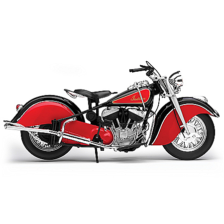 16-Inch 1948 Indian Chief Roadmaster Diecast Motorcycle