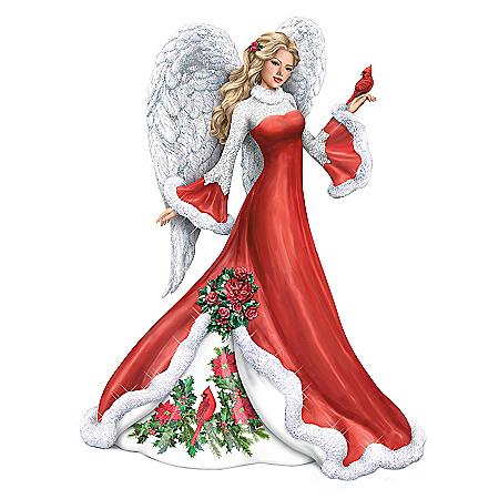 Wintery Interlude Hand-Painted Angel Figurine