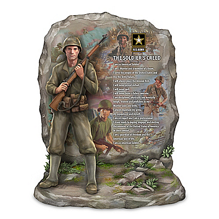 James Griffin The Soldier's Creed Army Tribute Sculpture