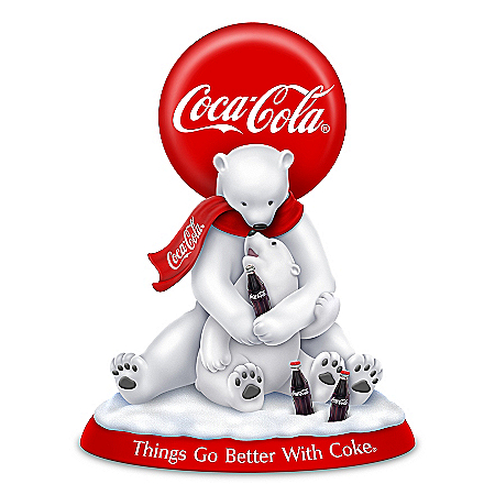 Things Go Better With COKE Hand-Painted Polar Bears Figurine