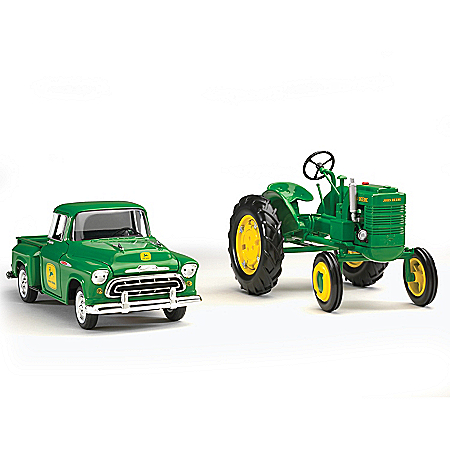 John Deere 1:25-Scale Diecast Truck And 1:16-Scale Tractor