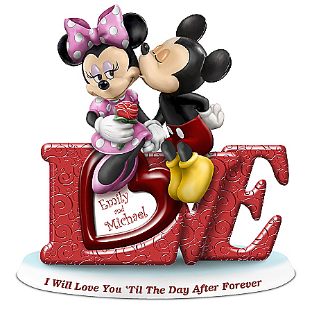 Disney Mickey Mouse And Minnie Mouse Figurine With 2 Names