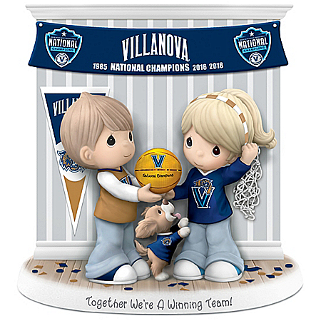2018 NCAA Champions Villanova Wildcats Porcelain Precious Moments Figurine