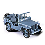 1 - 18-Scale 1941 Willys Diecast WWII Blue Military Jeep