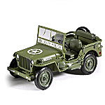 1 - 18-Scale 1941 Willys Diecast WWII Green Military Jeep
