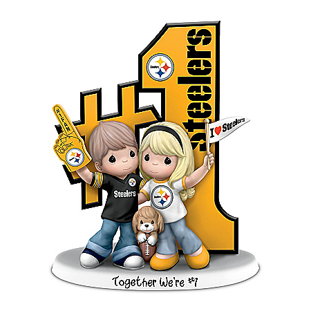 Precious Moments Romantic Pittsburgh Football Figurine