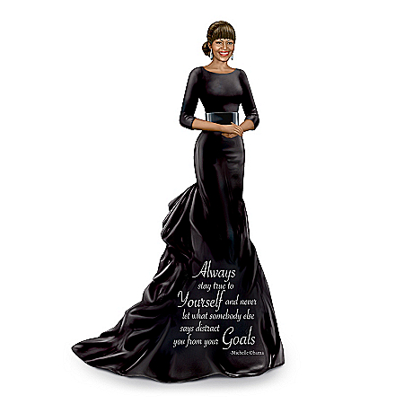 Keith Mallett Pure Elegance Michelle Obama Hand-Painted Figurine
